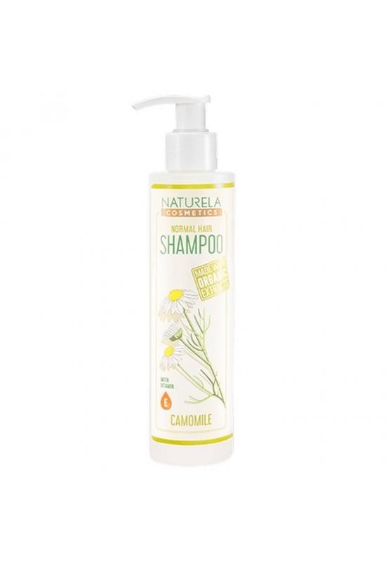 Безсулфатен натурален шампоан за нормална коса с лайка Naturela Cosmetics