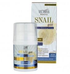 Victoria Beauty Snail Gold Избелващ дневен крем за лице с охлювен екстракт и арганово масло