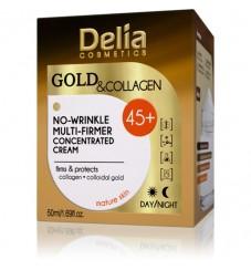 Delia Gold & Collagen 45+  Крем против бръчки 50 мл