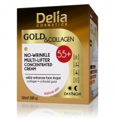 Delia Gold & Collagen 55+  Крем за лице 50 мл