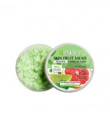 Захарен скраб за лице и тяло с аромат на грейпфрут, мента и лайм Agiva