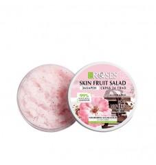 Захарен скраб за лице и тяло с аромат на шоколад, розова вода и йогурт Agiva